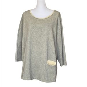 Kleen Heather Cotton long sleeve top w/ pocket